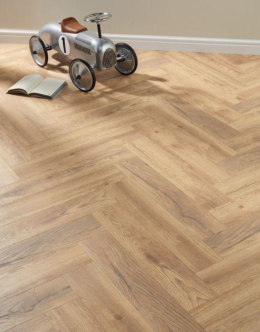 busy family home - Herringbone Regency Oak Laminate Flooring
